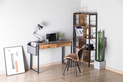 Industrial Style Desk with Drawers