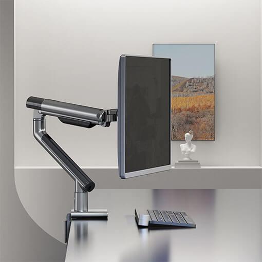 Slim Aluminum Spring-Assisted MonitorArm Black Color