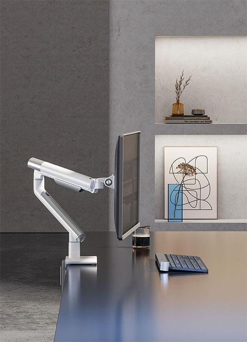 Slim Aluminum Spring-Assisted MonitorArm