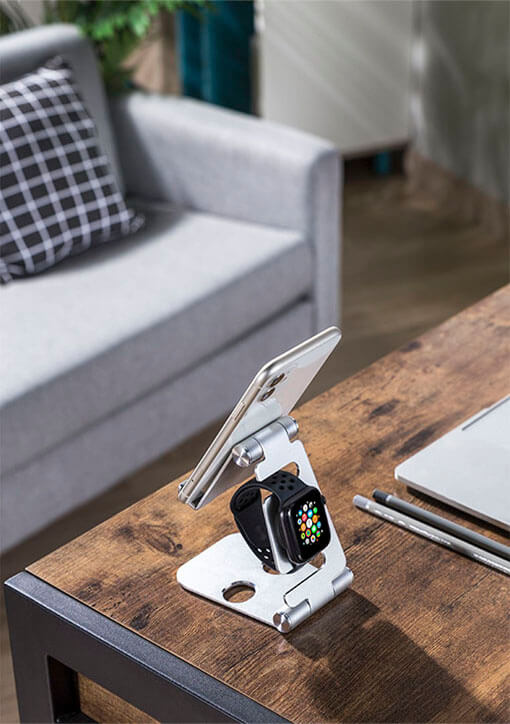 2-in-1 Phone & Smartwatch Holder On the Desk