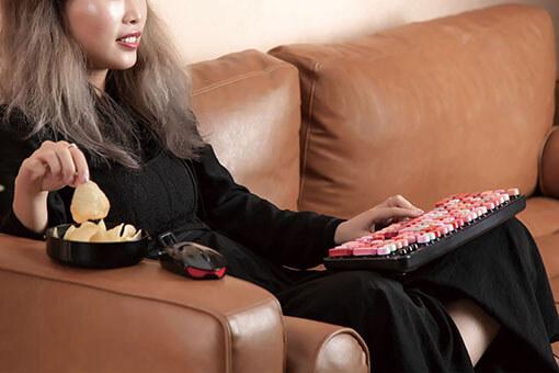 Girl Type On The Keyboard