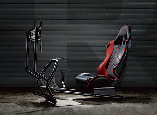 Racing Simulator Cockpit with Reclining Seat