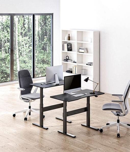 Gas-Spring Height Adjustable Sit-Stand Desk