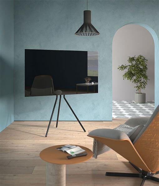 Artistic Steel Studio TV Floor Stand