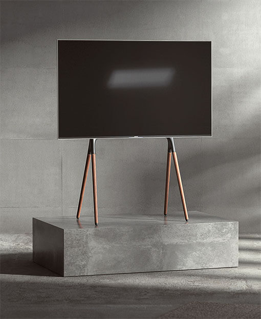 Easel Studio TV Floor Stand with Four Legs
