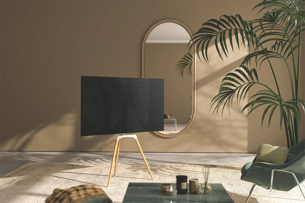 Pastel Easel Studio TV Floor Tripod Stand