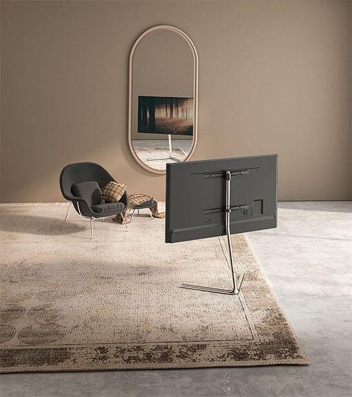 Slender V-Base Studio TV Floor Stand